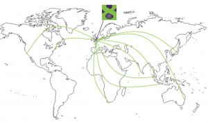 Map of global agencies CubanEight works
